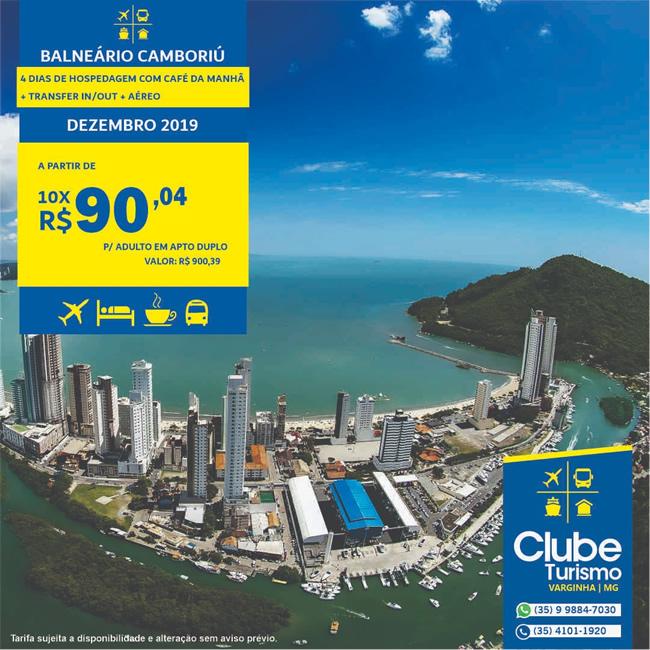 Clube Turismo Varginha: Pacotes de viagem para Balneário Camboriú e Bonito; Confira as condições especiais - Varginha Online