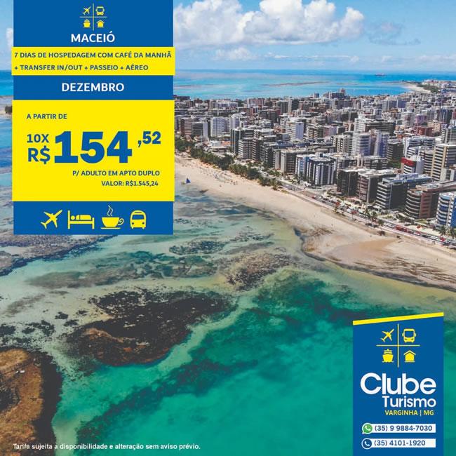 Clube Turismo Varginha: Pacotes de viagem para Maceió e Porto de Galinhas; Confira as condições especiais - Varginha Online